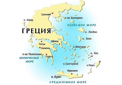 Какое море в Греции