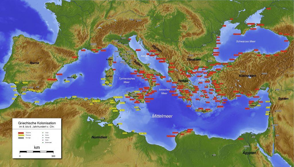 Древнегреческая колонизация в IV в. до н. э.
